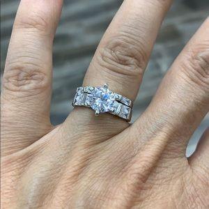 Jewelry - 1.5ct Round Engagement Ring Wedding Band 2 pc set